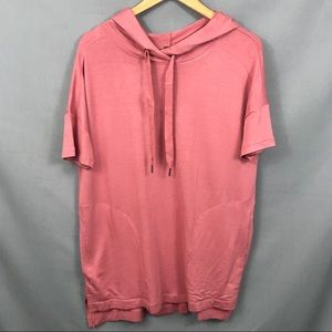 Philosophy Pink tunic hooded top Sz S